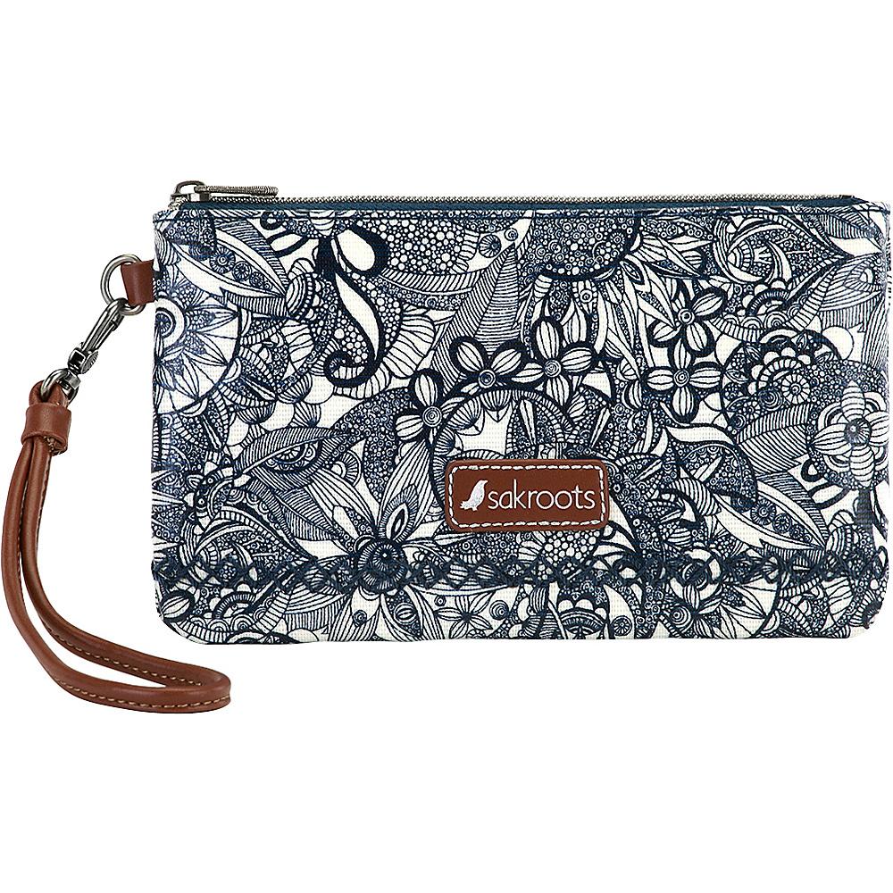 Sakroots Artist Circle Phone Charging Wristlet Navy Spirit Desert - Sakroots Fabric Handbags - Handbags, Fabric Handbags