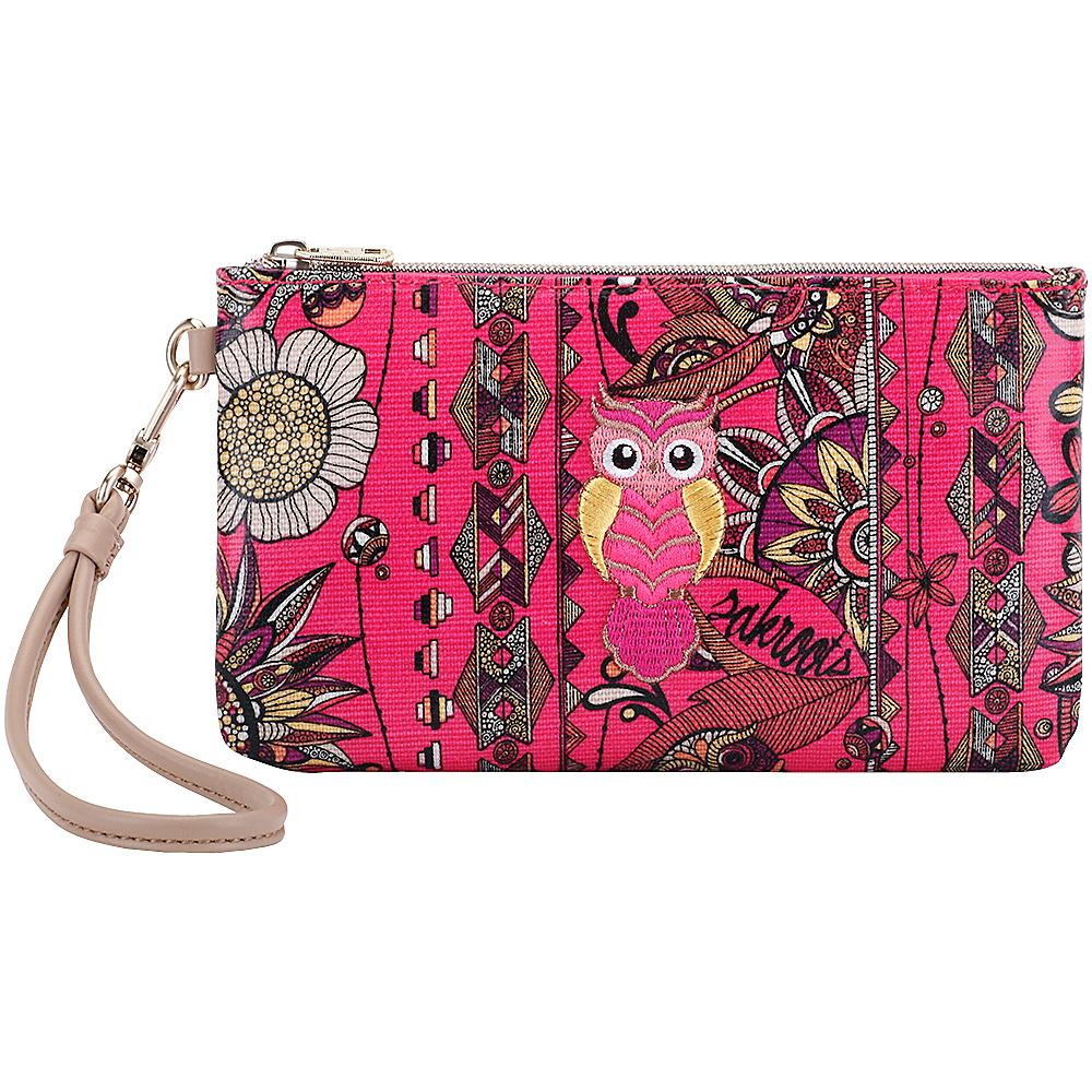 Sakroots Artist Circle Phone Charging Wristlet Fuschia Spirit Desert - Sakroots Fabric Handbags - Handbags, Fabric Handbags