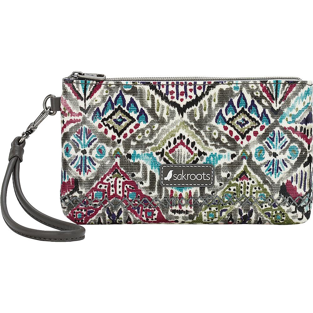 Sakroots Artist Circle Phone Charging Wristlet Slate Brave Beauti - Sakroots Fabric Handbags - Handbags, Fabric Handbags