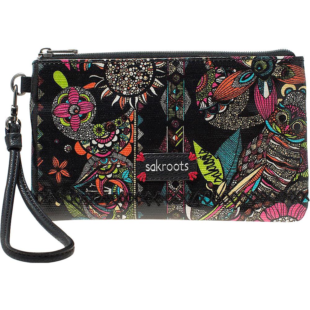 Sakroots Artist Circle Phone Charging Wristlet Neon Spirit Desert - Sakroots Fabric Handbags - Handbags, Fabric Handbags