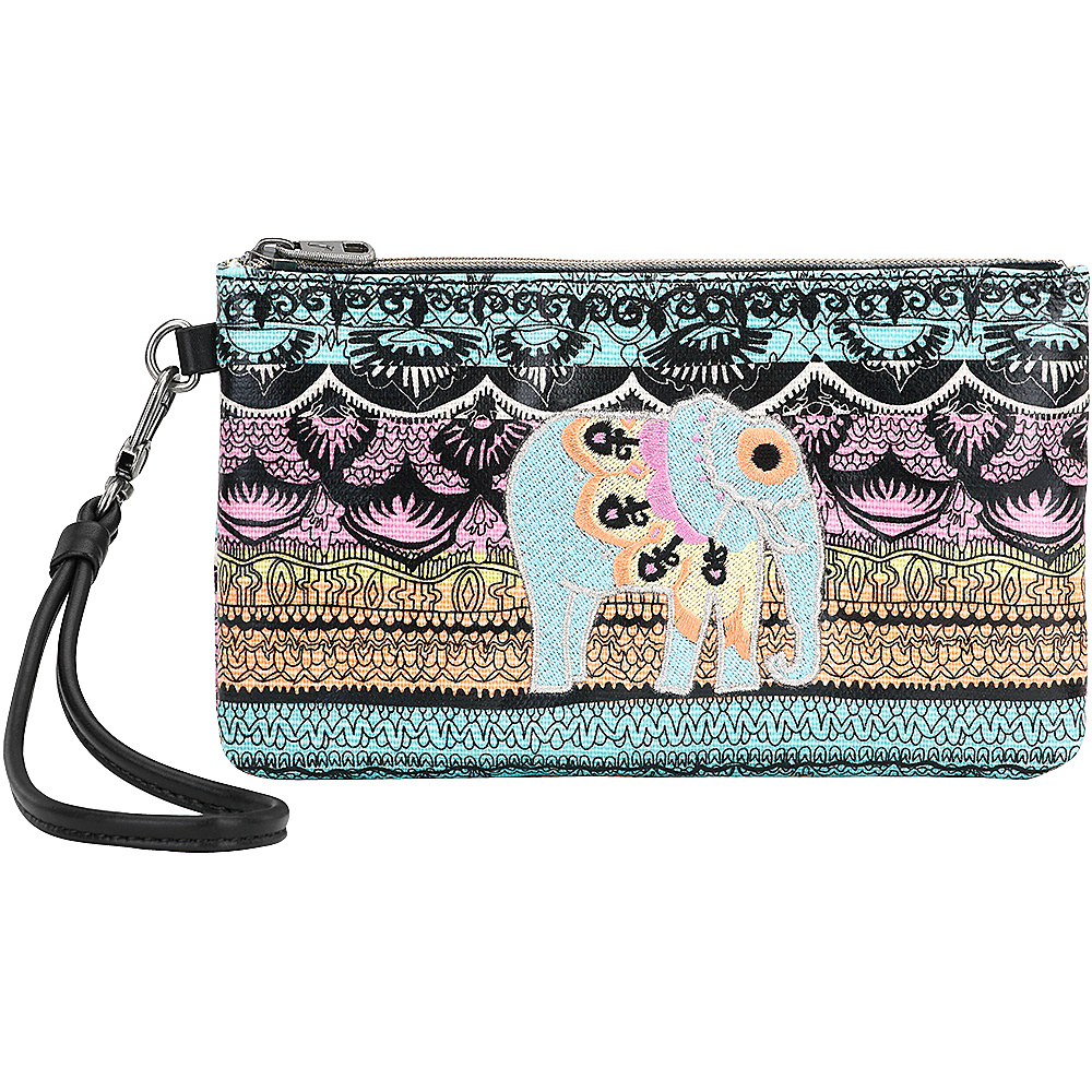 Sakroots Artist Circle Phone Charging Wristlet Sherbet One World - Sakroots Fabric Handbags - Handbags, Fabric Handbags
