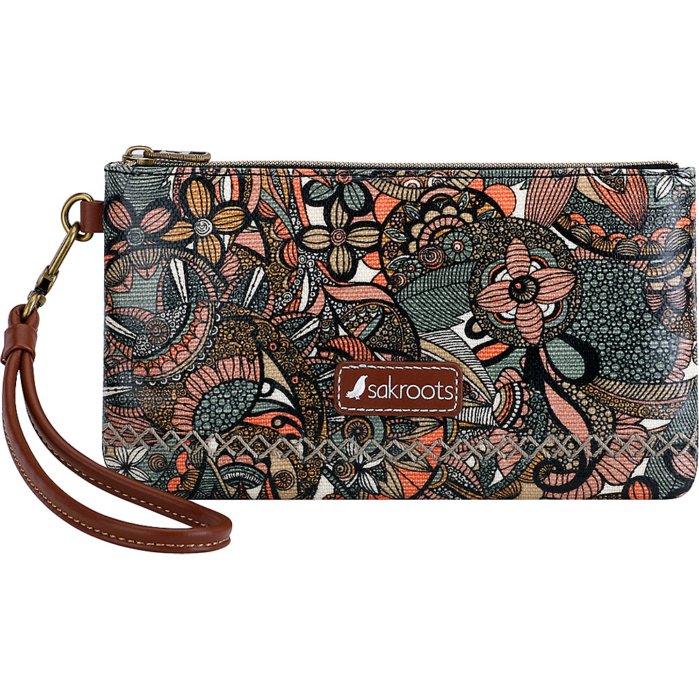 Sakroots Artist Circle Phone Charging Wristlet Sienna Spirit Desert - Sakroots Fabric Handbags - Handbags, Fabric Handbags