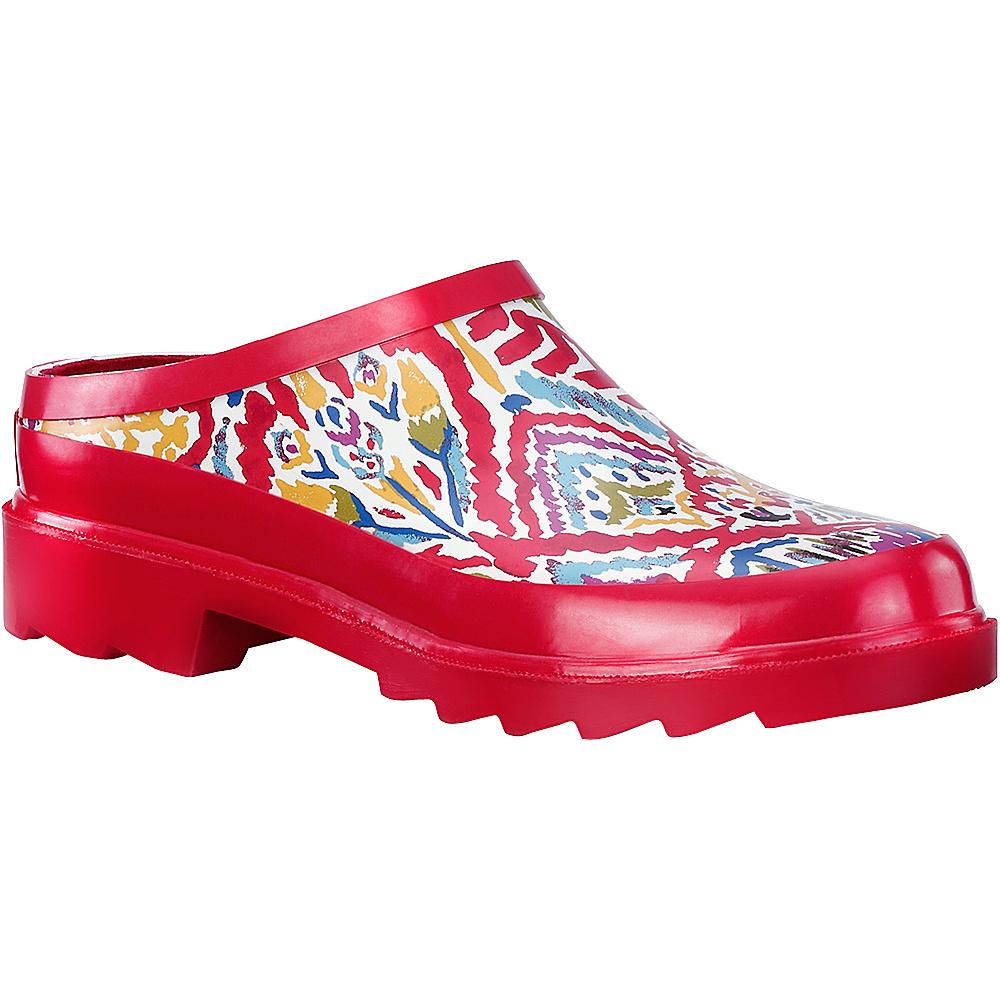 Sakroots Root Rain Clog 6 - M (Regular/Medium) - Sweet Red Brave Beauti - Sakroots Womens Footwear - Apparel & Footwear, Women's Footwear