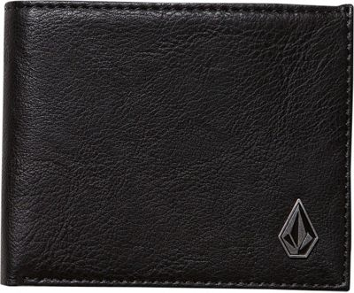 Volcom Slim Stone PU Wallet Black - Volcom Men's Wallets