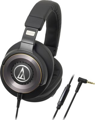 Audio Technica Solid Bass Over-Ear Headphones with In-Line Mic and Controls Black - Audio Technica Headphones & Speakers