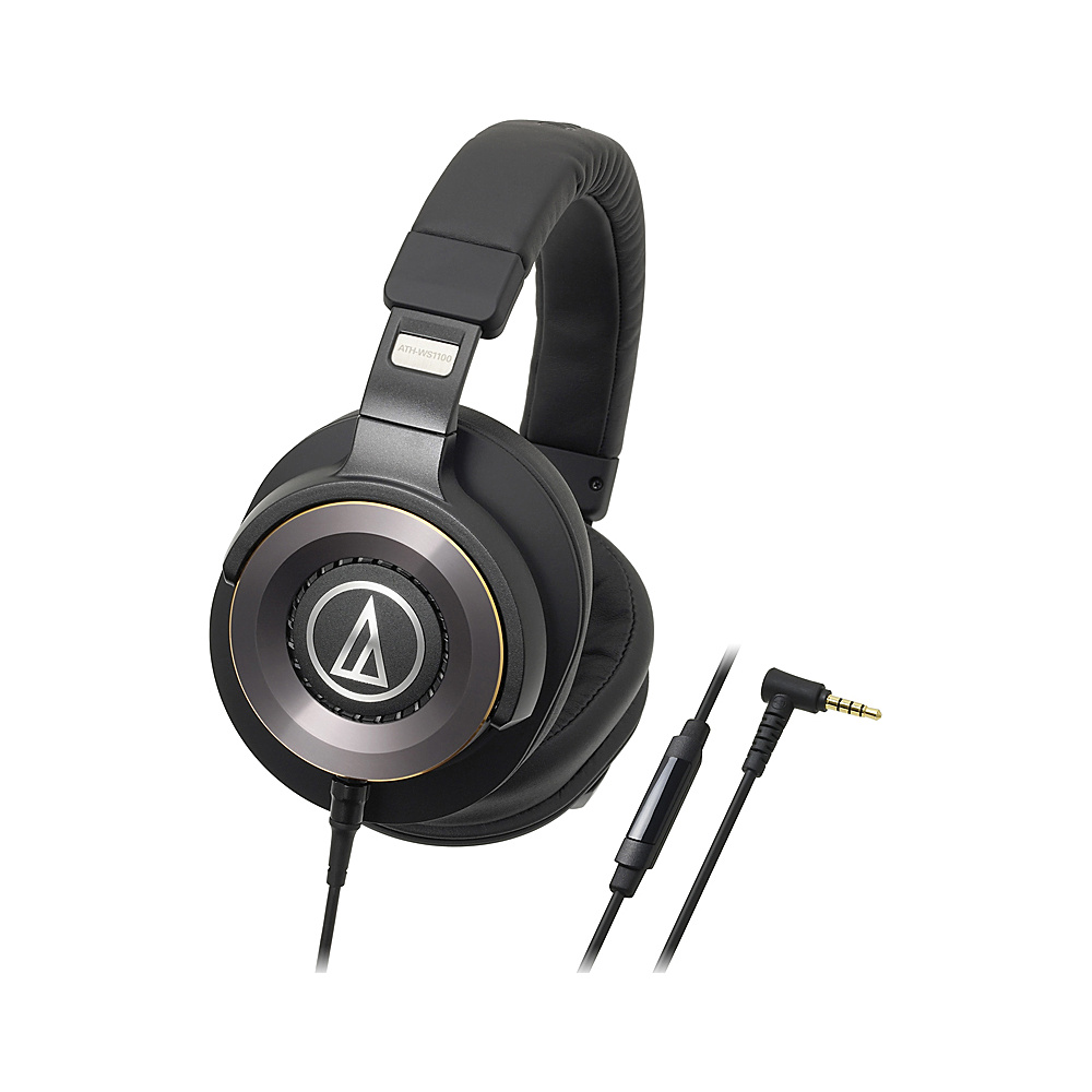 Audio Technica Solid Bass Over Ear Headphones with In Line Mic and Controls Black Audio Technica Headphones Speakers