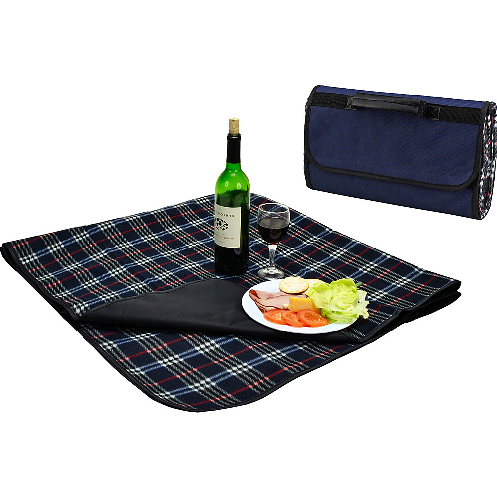 Picnic at Ascot Outdoor Picnic Blanket with Waterproof Backing  58 x 53 Blue Plaid - Picnic at Ascot Outdoor Accessories - Outdoor, Outdoor Accessories