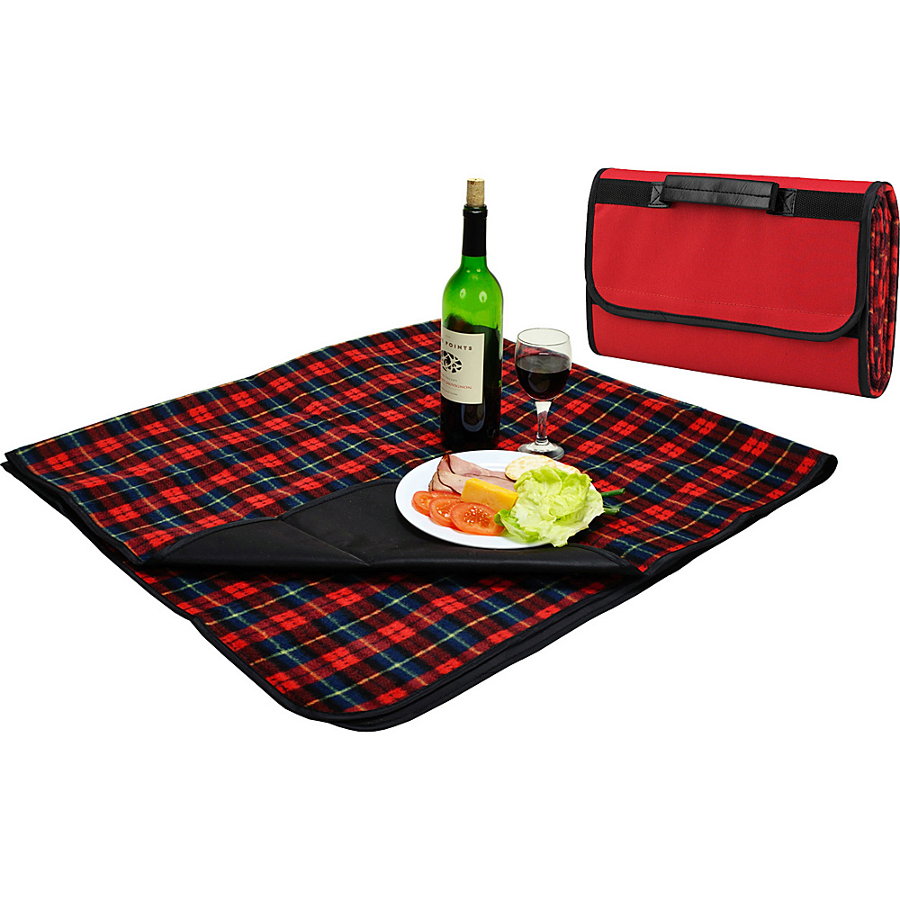 Picnic at Ascot Outdoor Picnic Blanket with Waterproof Backing  58 x 53 Red Plaid - Picnic at Ascot Outdoor Accessories - Outdoor, Outdoor Accessories