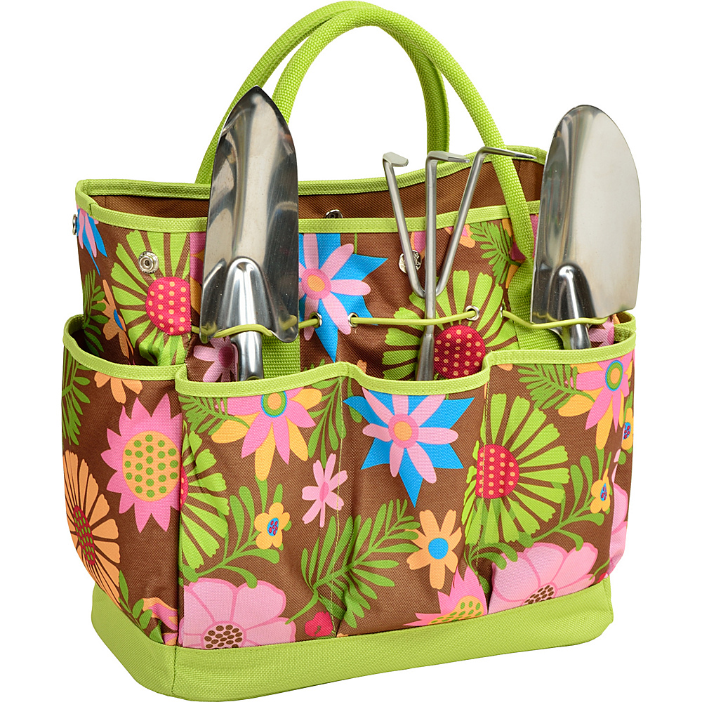 Picnic at Ascot Gardening Tote with 3 Tools Floral - Picnic at Ascot All-Purpose Totes