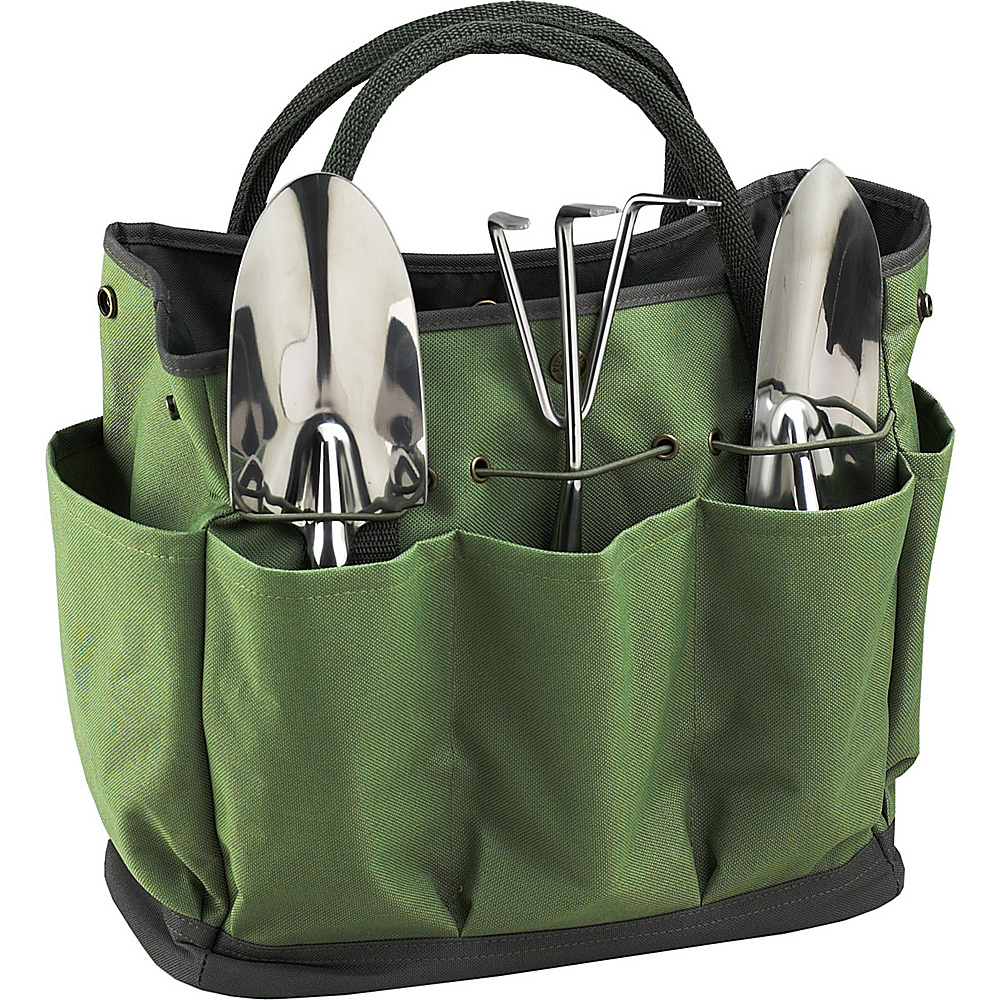 Picnic at Ascot Gardening Tote with 3 Tools Forest Green - Picnic at Ascot All-Purpose Totes - Travel Accessories, All-Purpose Totes