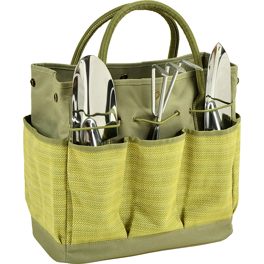 Picnic at Ascot Gardening Tote with 3 Tools Olive Tweed - Picnic at Ascot All-Purpose Totes