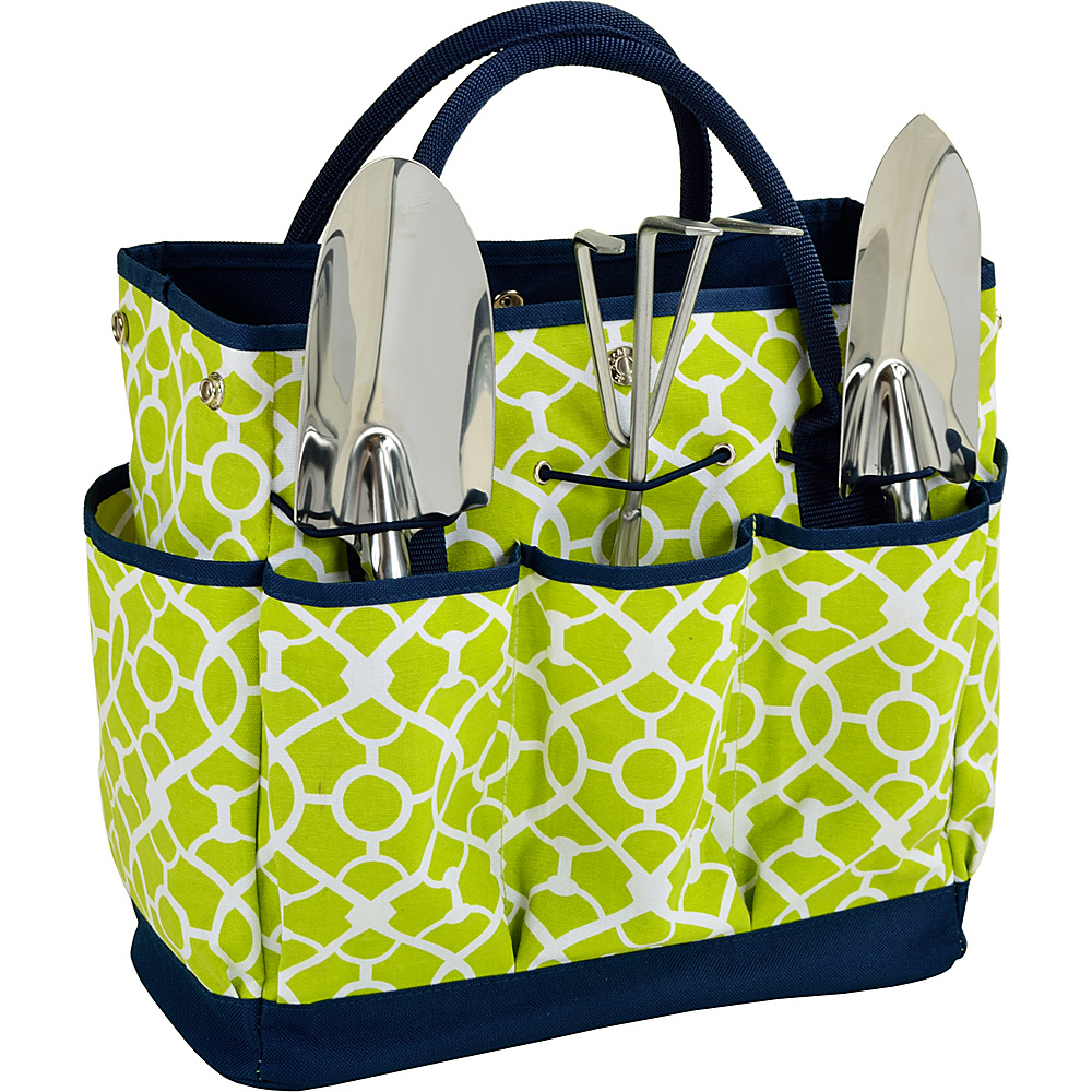 Picnic at Ascot Gardening Tote with 3 Tools Trellis Green - Picnic at Ascot All-Purpose Totes