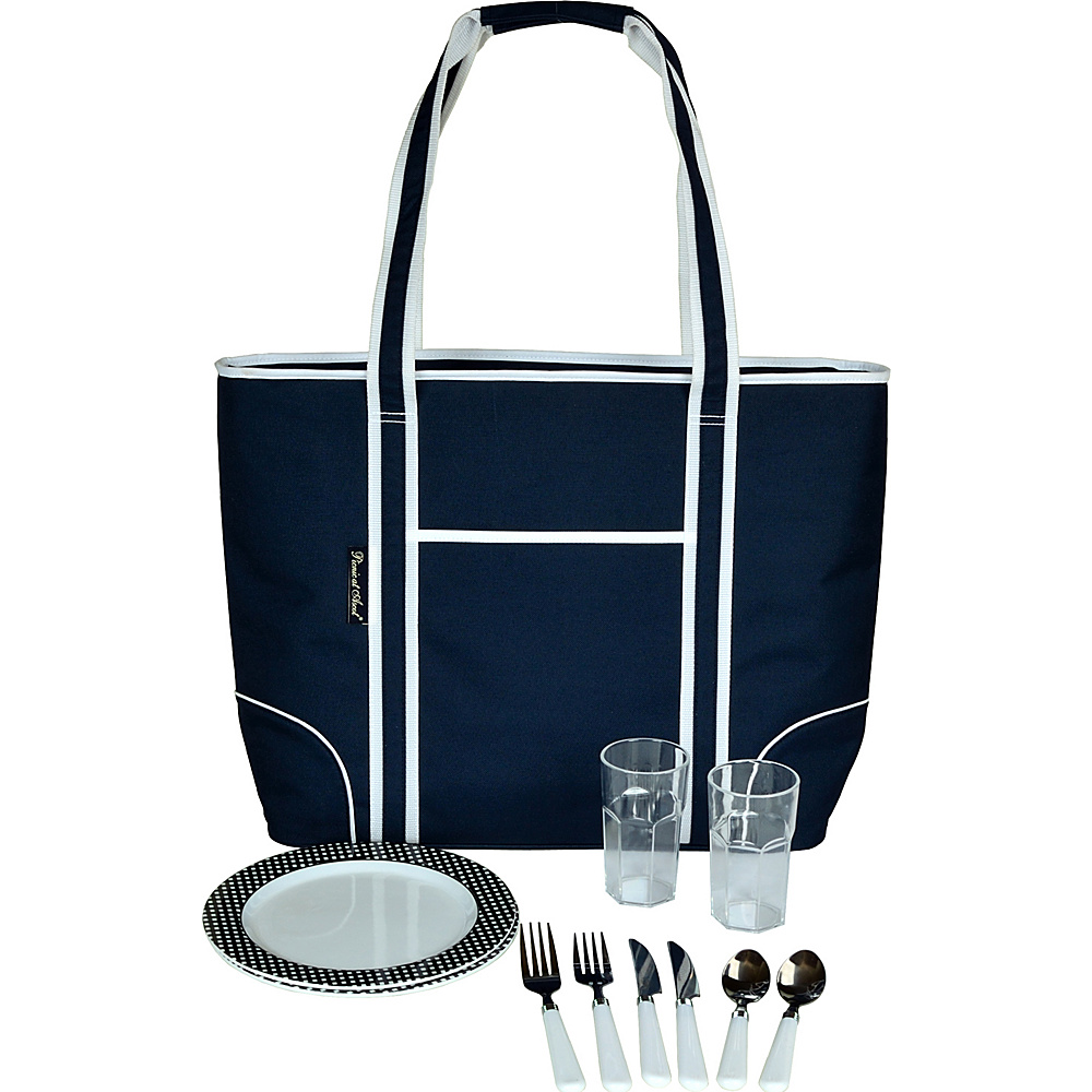 Picnic at Ascot Extra Large Insulated Picnic Bag Equipped for 2 Navy - Picnic at Ascot Outdoor Accessories - Outdoor, Outdoor Accessories