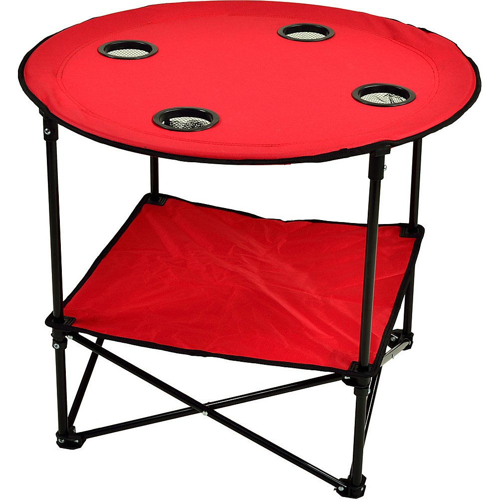 Picnic at Ascot Travel Folding Table for Picnics and Tailgating Red - Picnic at Ascot Outdoor Accessories - Outdoor, Outdoor Accessories