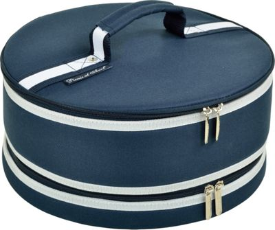 "Picnic at Ascot Pie and Cake Carrier 12"""" Diameter Navy - Picnic at Ascot Outdoor Accessories"