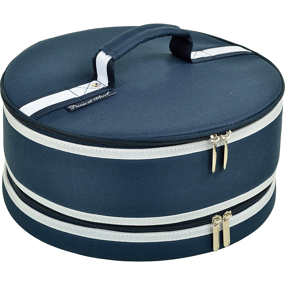 Picnic at Ascot Pie and Cake Carrier 12 Diameter Navy - Picnic at Ascot Outdoor Accessories - Outdoor, Outdoor Accessories