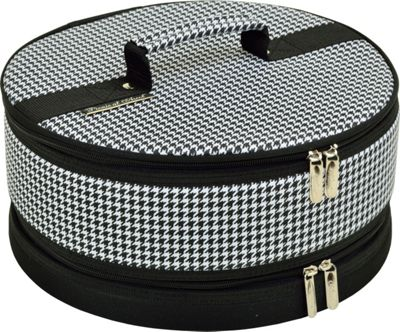 """Picnic at Ascot Pie and Cake Carrier 12"""""""" Diameter Houndstooth - Picnic at Ascot Outdoor Accessories"""