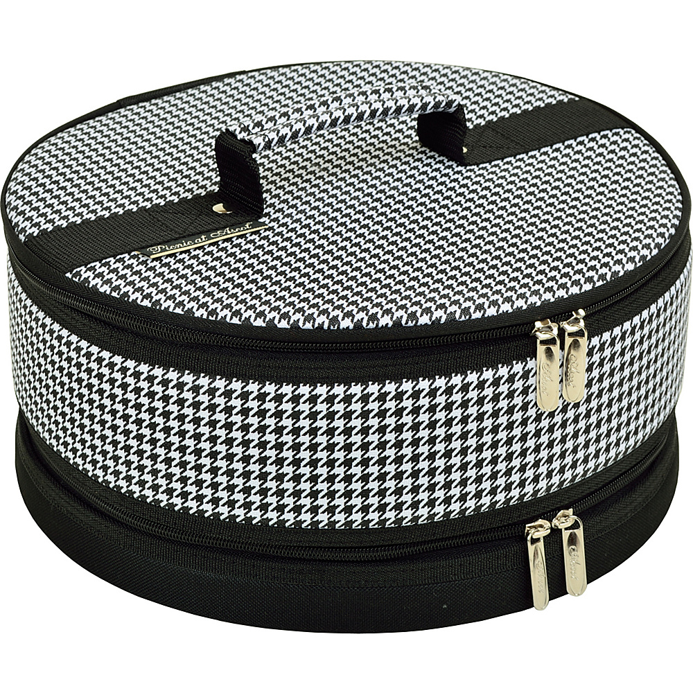 Picnic at Ascot Pie and Cake Carrier 12 Diameter Houndstooth - Picnic at Ascot Outdoor Accessories - Outdoor, Outdoor Accessories