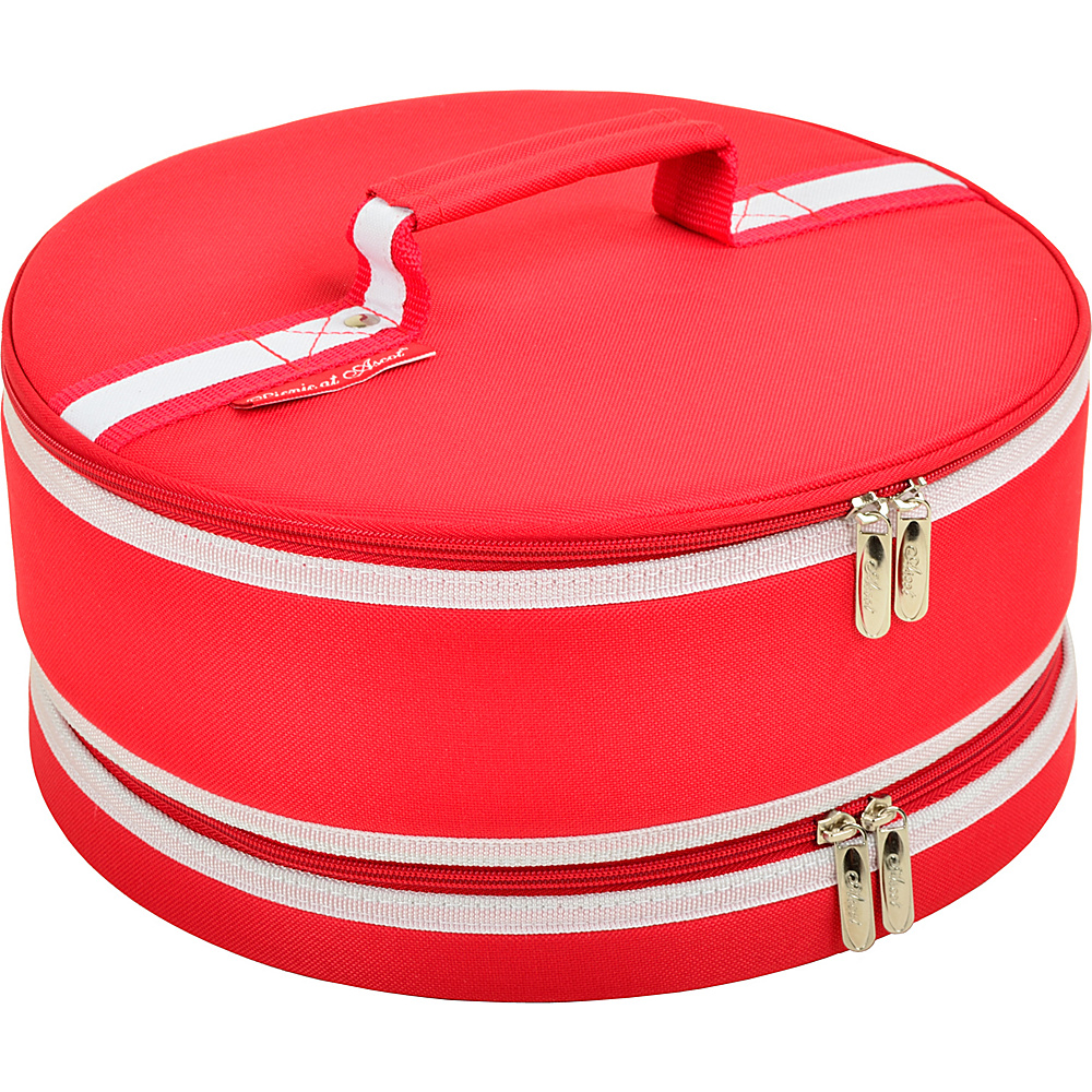 Picnic at Ascot Pie and Cake Carrier 12 Diameter Red - Picnic at Ascot Outdoor Accessories - Outdoor, Outdoor Accessories