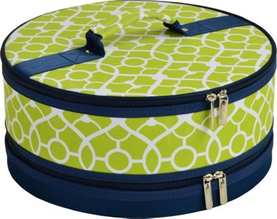 "Picnic at Ascot Pie and Cake Carrier 12"""" Diameter Trellis Green - Picnic at Ascot Outdoor Accessories"" 10475577"