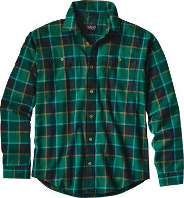 Patagonia Mens Long Sleeve Pima Cotton Shirt XS - Crossed Branches: Carbon - Patagonia Men's Apparel
