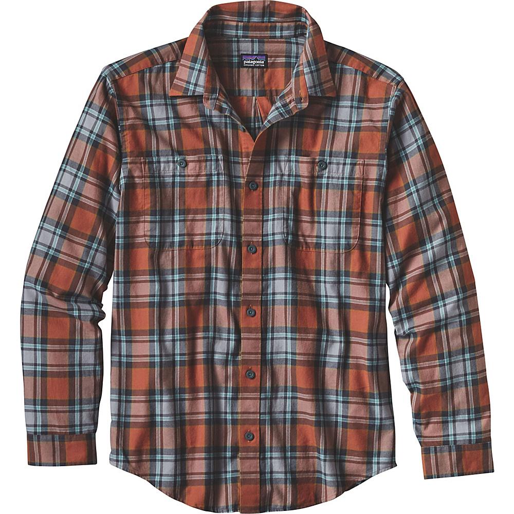 Patagonia Mens Long Sleeve Pima Cotton Shirt XS - Carpenter: Canyon Brown - Patagonia Mens Apparel - Apparel & Footwear, Men's Apparel