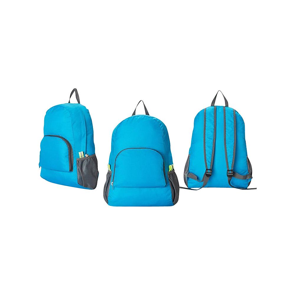 Koolulu Foldable Travel Backpack Blue Koolulu Everyday Backpacks