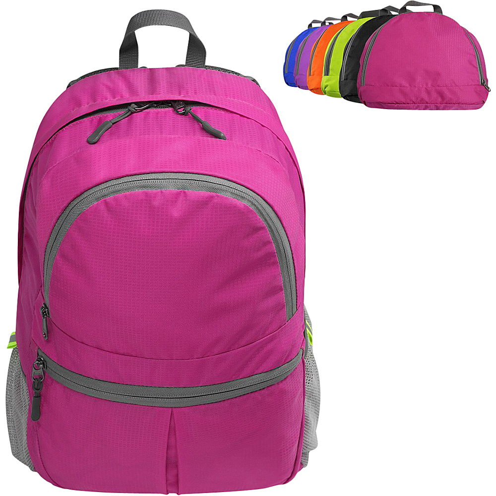 Koolulu Foldable Travel Backpack Hot Pink Koolulu Everyday Backpacks