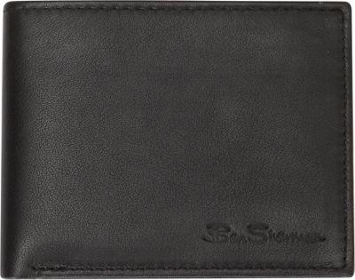 Ben Sherman Luggage Kensington Collection Leather Passcase Bi-Fold Wallet Black - Ben Sherman Luggage Men's Wallets