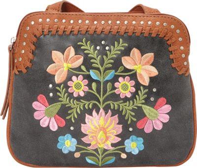 Bandana Maya 2 Compartment Crossbody Charcoal / Terracotta - Bandana Manmade Handbags
