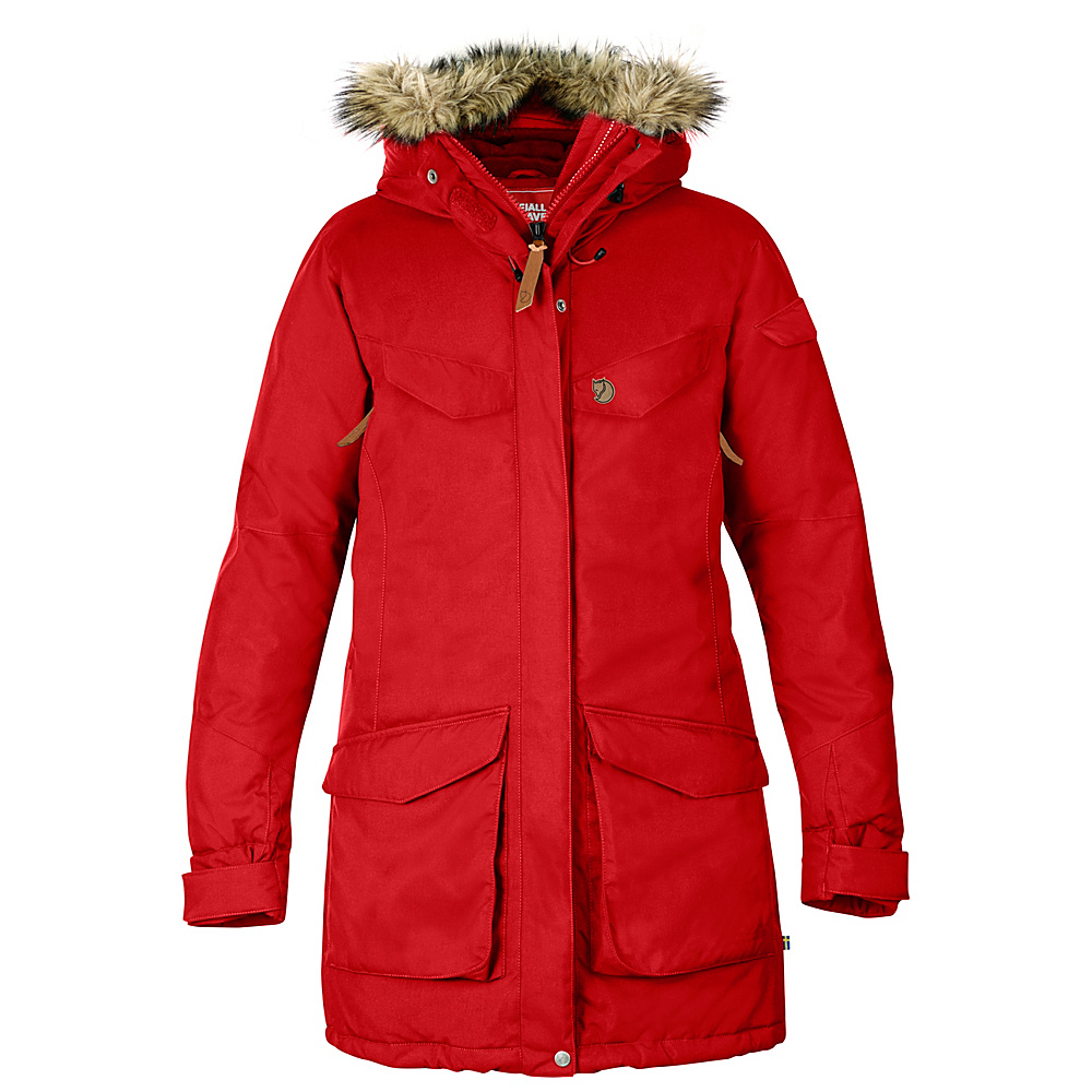 Fjallraven Womens Nuuk Parka S - Red - Fjallraven Womens Apparel - Apparel & Footwear, Women's Apparel