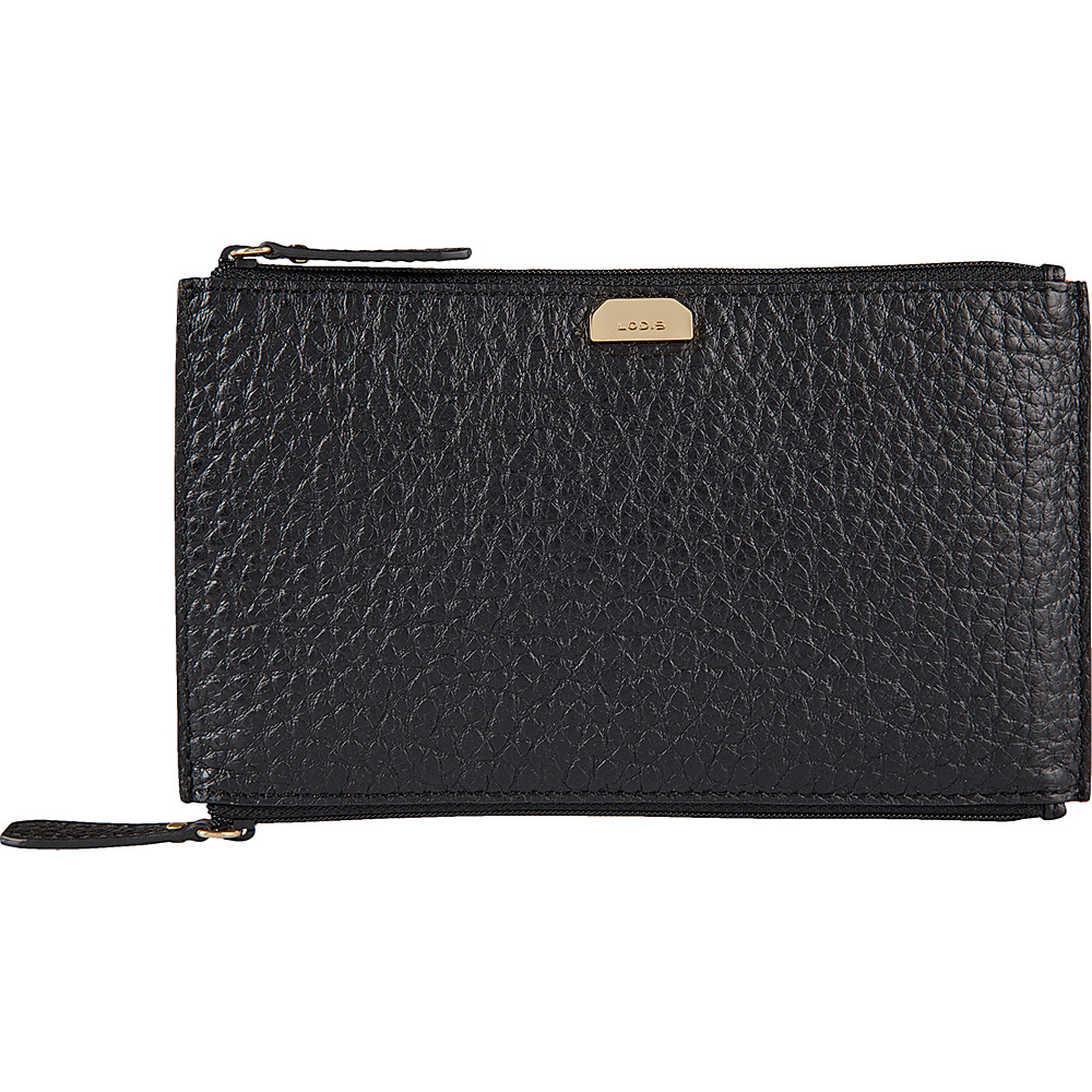 Lodis Borrego Under Lock and Key Lani Double Zip Pouch Black - Lodis Womens Wallets - Women's SLG, Women's Wallets