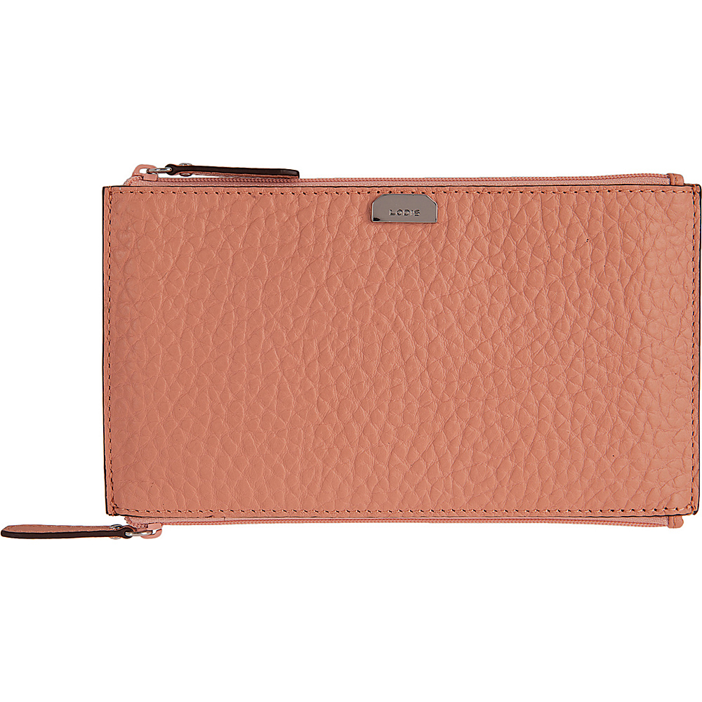 Lodis Borrego Under Lock and Key Lani Double Zip Pouch Blush - Lodis Womens Wallets - Women's SLG, Women's Wallets