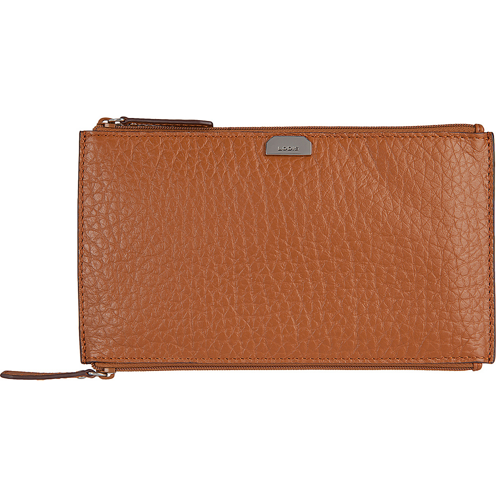 Lodis Borrego Under Lock and Key Lani Double Zip Pouch Toffee - Lodis Womens Wallets - Women's SLG, Women's Wallets