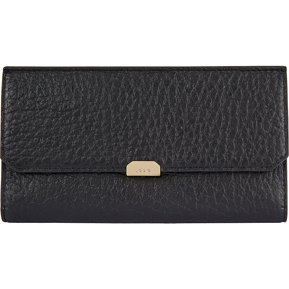 Lodis Borrego Under Lock and Key Amanda Continental Clutch Black - Lodis Womens Wallets - Women's SLG, Women's Wallets