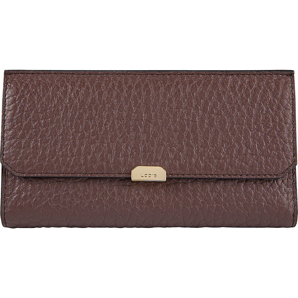 Lodis Borrego Under Lock and Key Amanda Continental Clutch Dark Brown - Lodis Womens Wallets - Women's SLG, Women's Wallets