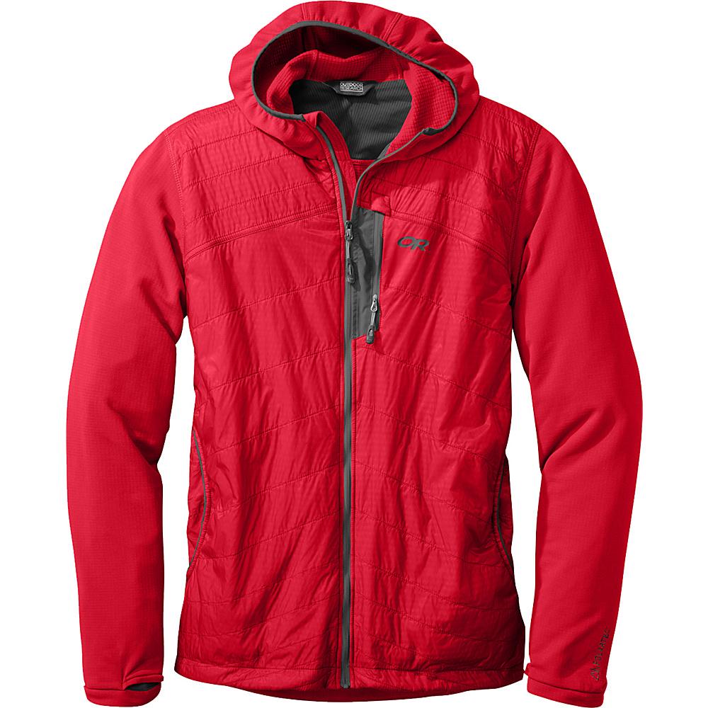 Outdoor Research Deviator Hoody S - Hot Sauce/Charcoal - Outdoor Research Mens Apparel - Apparel & Footwear, Men's Apparel