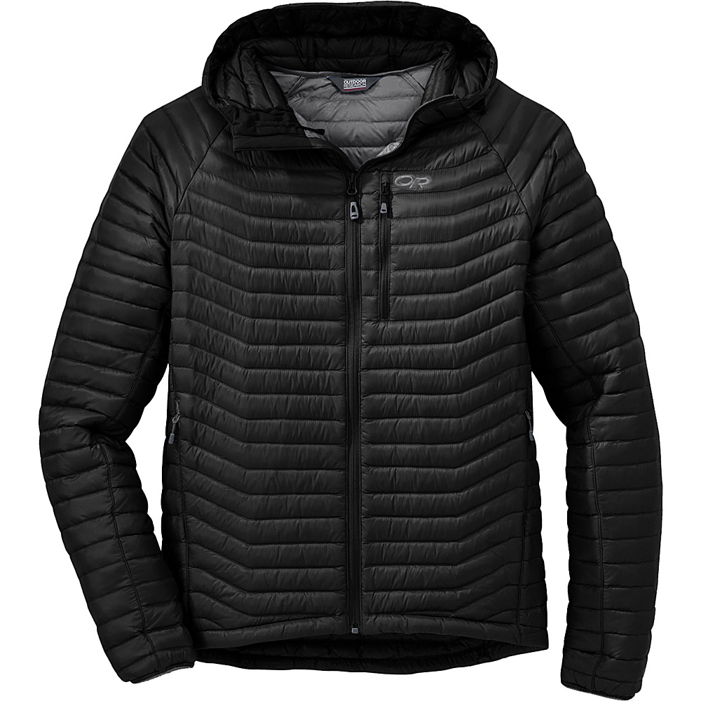Outdoor Research Verismo Hooded Jacket M - Black - Outdoor Research Mens Apparel - Apparel & Footwear, Men's Apparel