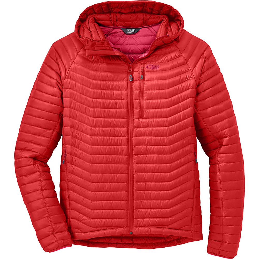 Outdoor Research Verismo Hooded Jacket M - Hot Sauce - Outdoor Research Womens Apparel - Apparel & Footwear, Women's Apparel