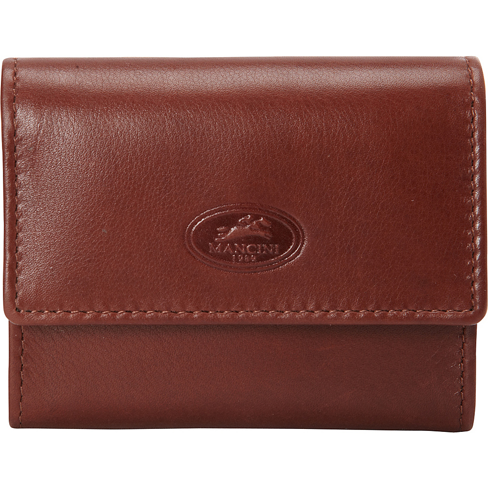 Mancini Leather Goods Manchester Collection: Men's RFID Expandable Credit Card Wallet Cognac - Mancini Leather Goods Men's Wallets