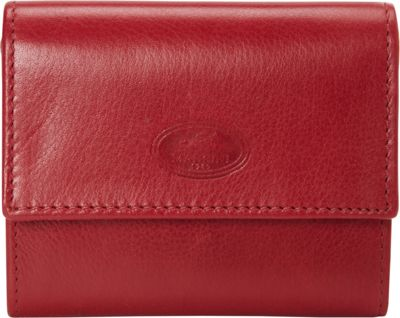 Mancini Leather Goods Manchester Collection: Men's RFID Expandable Credit Card Wallet Red - Mancini Leather Goods Men's Wallets
