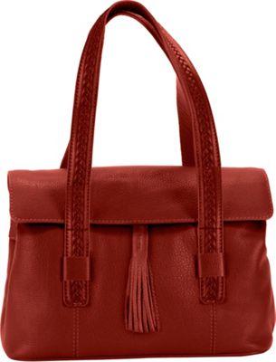 Hadaki Tammi Satchel Deep Red - Hadaki Leather Handbags