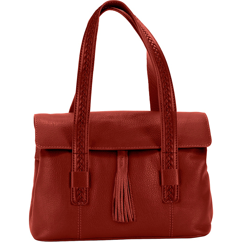 Hadaki Tammi Satchel Deep Red - Hadaki Leather Handbags - Handbags, Leather Handbags