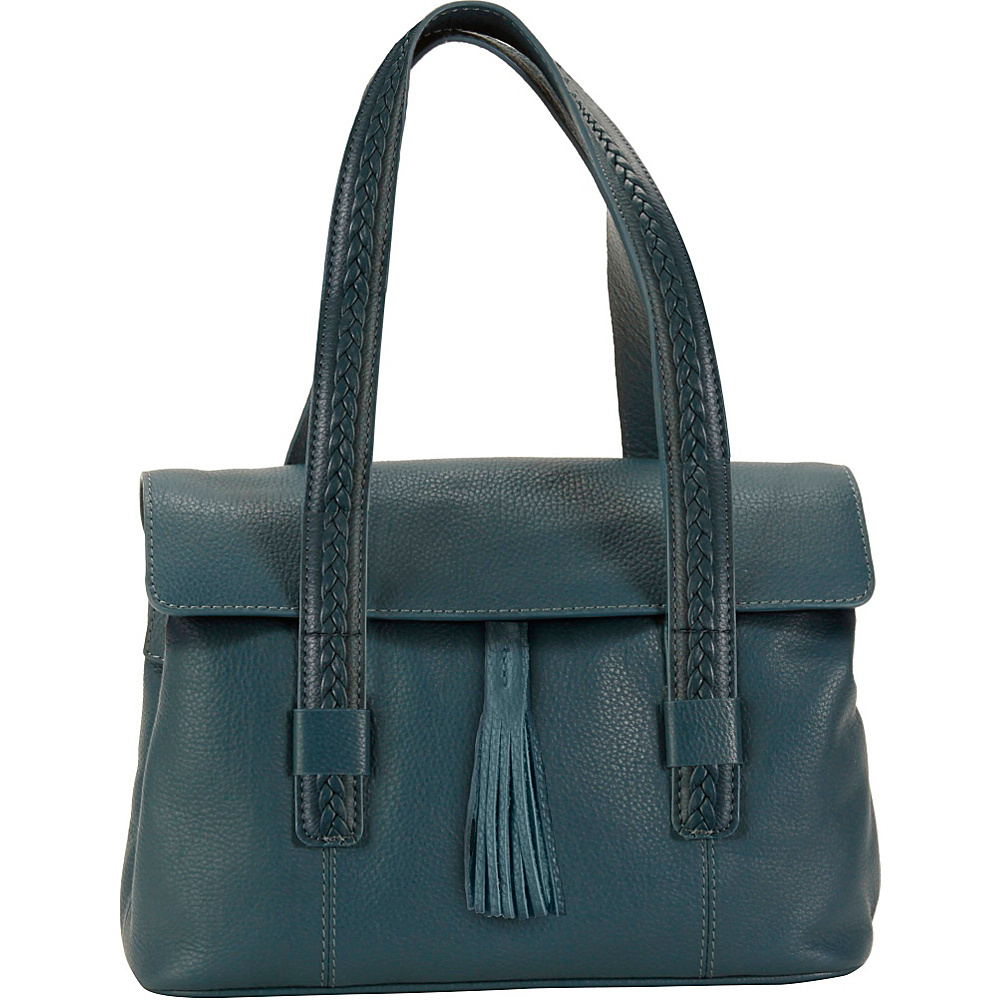 Hadaki Tammi Satchel Indian Teal - Hadaki Leather Handbags - Handbags, Leather Handbags