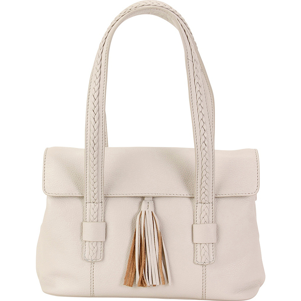 Hadaki Tammi Satchel Ivory - Hadaki Leather Handbags - Handbags, Leather Handbags
