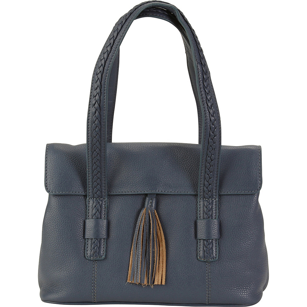 Hadaki Tammi Satchel Marine Blue - Hadaki Leather Handbags - Handbags, Leather Handbags