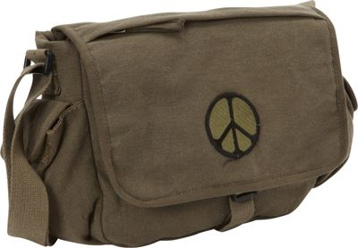 Fox Outdoor Retro Messenger Bag Olive Drab - Peace - Fox Outdoor Messenger Bags