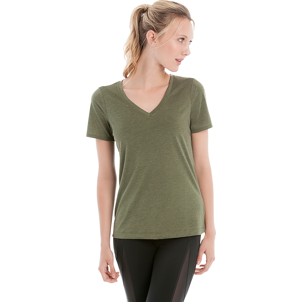 Lole Lauren Top S - Khaki Heather - Lole Womens Apparel - Apparel & Footwear, Women's Apparel