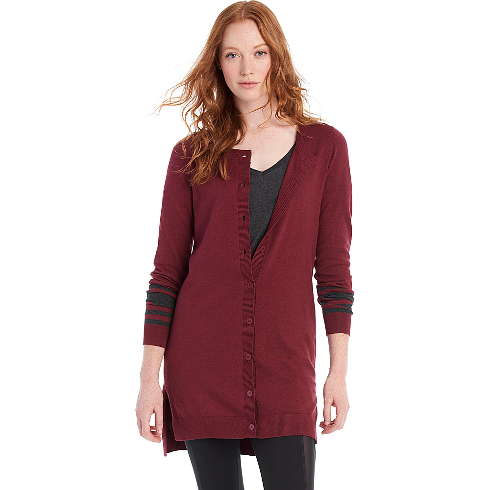 Lole Miu Cardigan S - Rumba Red Heather - Lole Womens Apparel - Apparel & Footwear, Women's Apparel