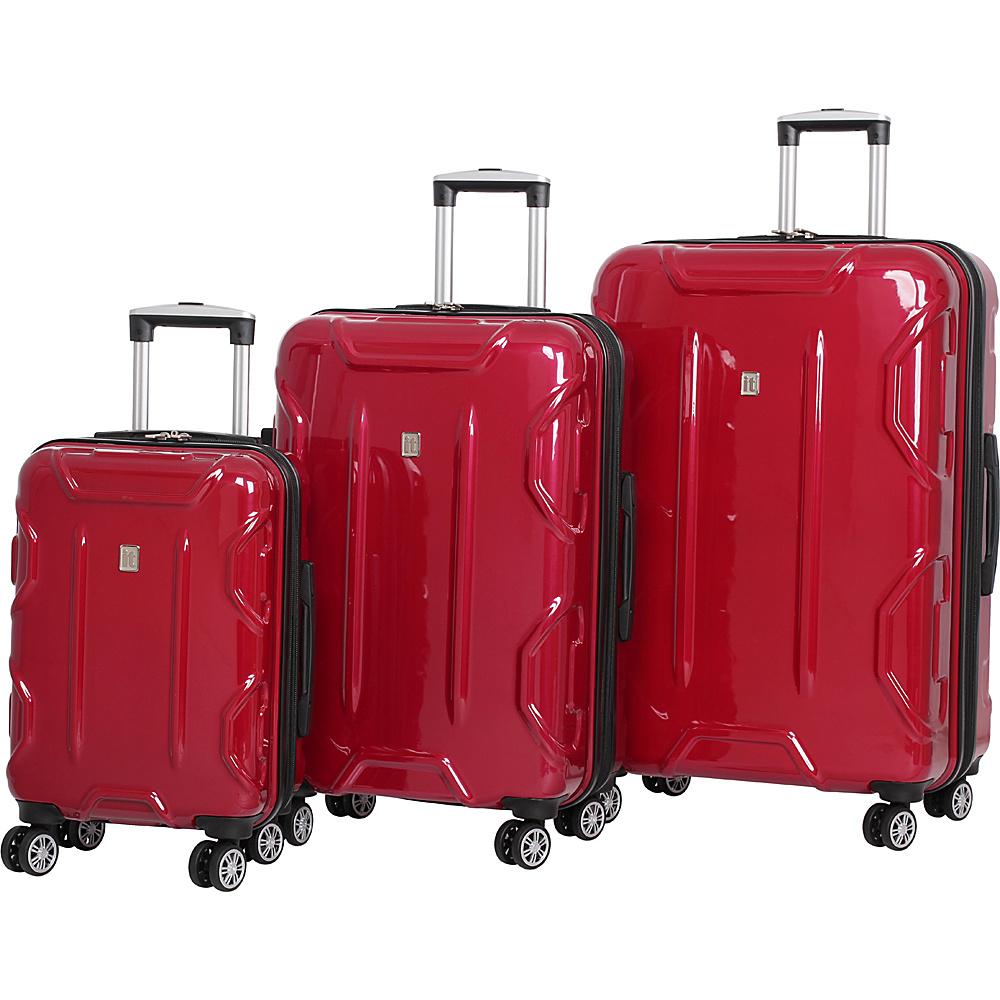 it luggage Transformer Hardside 8 Wheel 3 Piece Set Red - it luggage Luggage Sets